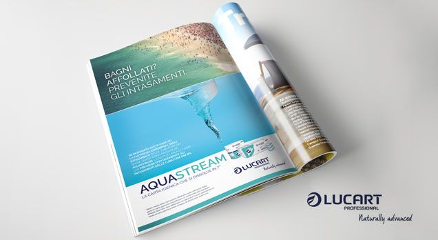 Lucart Aquastream Advertising